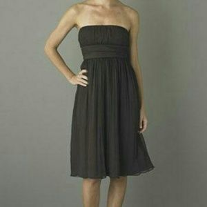 J. CREW Strapless Silk Chiffon Formal Dress Sz 4